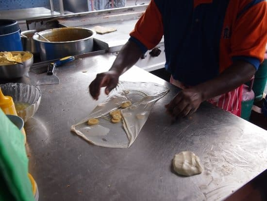Banana Roti Penang where to eat on a budget