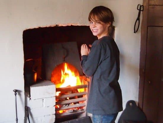 Welsh coal fire. Museum Welsh life St Fagans