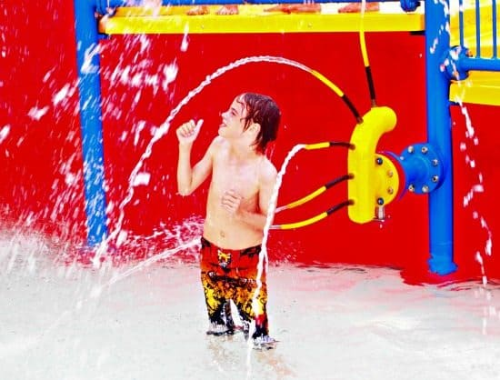 Family travel holiday choices, water parks