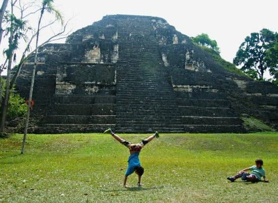 Tikal with kids. Mayan pyramids with kids