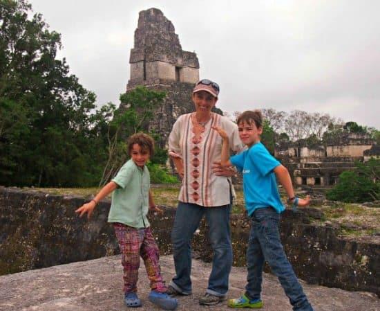 family visit to tikal guatemala