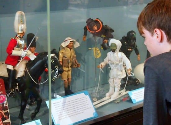 Action Man at the Museum of Childhood London. World Travel Family travel blog