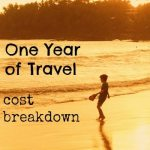 Cost of One Year of Travel: Cost Breakdown