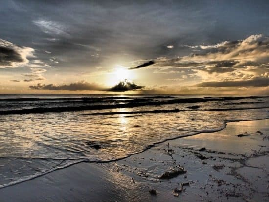 Four Mile Beach Port Douglas at dawn. Best hotels in Port Douglas and places to stay.
