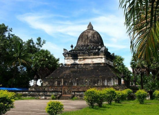 Travel Laos. Stupa Luang Prabang