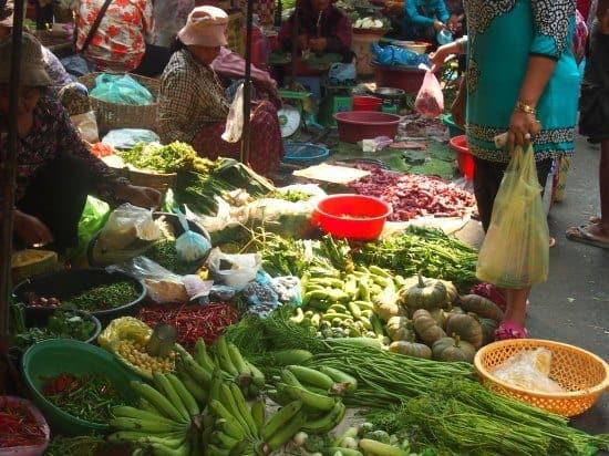 Fresh produce at Battambang Market