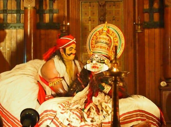 Travel in India with Children. Kathakali in Kerala
