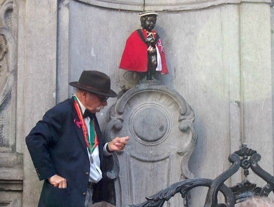 A taste of Brussels, waffles, chocolate, beer, Tin Tin, the Mannekin Pis and the Atomium. Brussels.