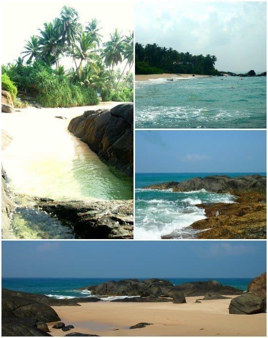 Secluded beach Ambalangoda Balapitya sri Lanka
