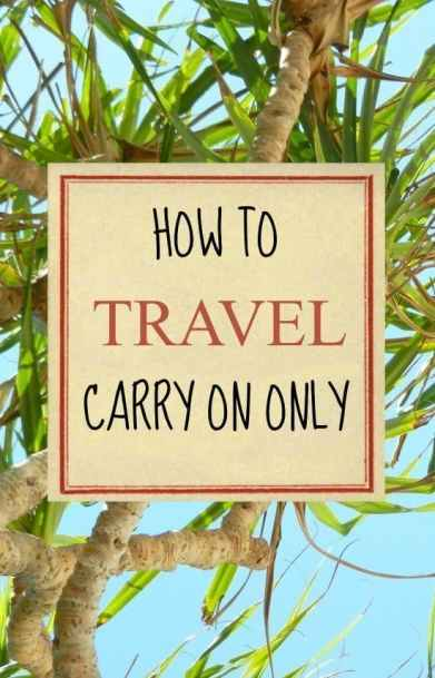 Tips for travelling carry on only. Packing lists, check lists, tips and ideas. What bag to choose and how to travel carry on only for family travellers, singles or couples.