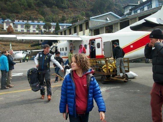 nepal lukla airport small plane