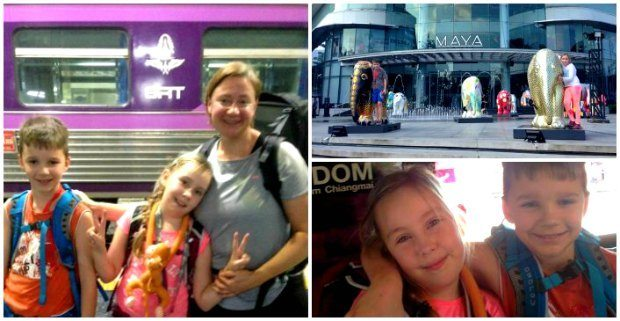steffi and family travelling