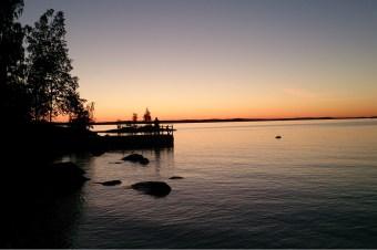 Der See nebenan, fünf Minuten laufen