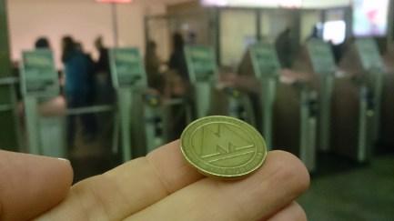 Chip für die Metro: 31 Rubel (25ct)