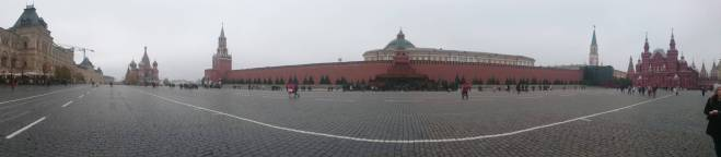 Panoramic view of the red square