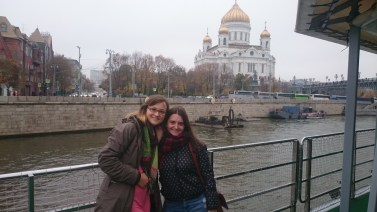 In front of Cathedral of Christ the Saviour