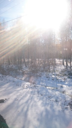 ..but also sunshine with snow