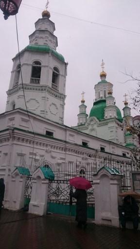 Orthodox church in the city center of Krasnojarsk