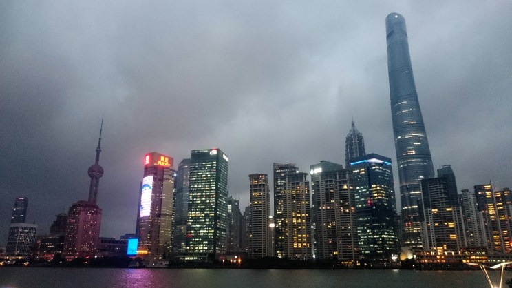 Skyline from another perspective - Shanghai tower is 632 meters high