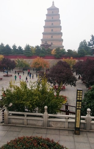 The big wild goose pagoda where ancient scriptures were hold