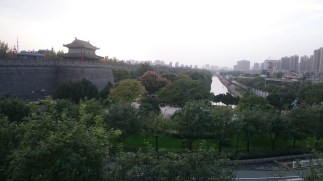 View on the old city wall of Xi'an, capital of the Shaanxi province
