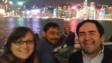 With Ratnesh and Jorge at the harbor