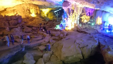 The big cave in Halong Bay
