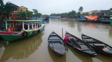 Fisher boats in the river
