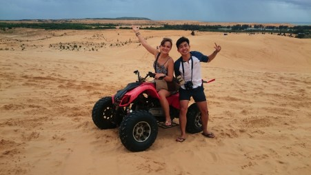 Coolest thing I have done in Vietnam: QUAD in the dunes