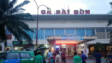"Train station Saigon - now the city is called ""Ho Chi Minh City"""