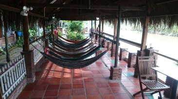 Our homestay directly on the river