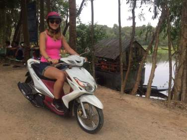 Jump on my back - first time Motorbike in Vietnam and I liked it!