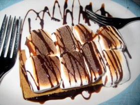 S'mores drizzled in chocolate