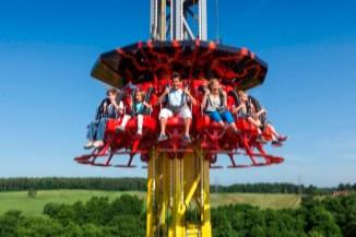 Magma Drop Tower ride, Paultons Park