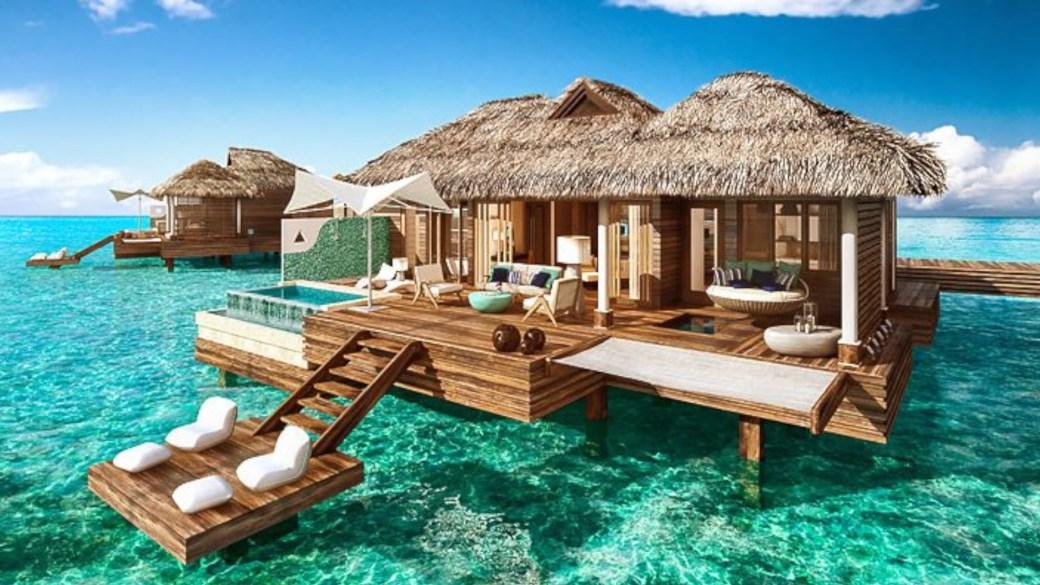 sandals over water villas