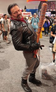 character from walking dead Negan with his bat
