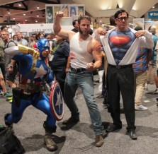 Wolverine, Superman, and Captain America