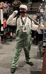 Mario brother in green suspenders