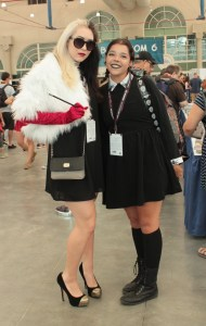 Cruella Deville with student looking character