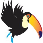 Flying toucan image - World Travel Toucan