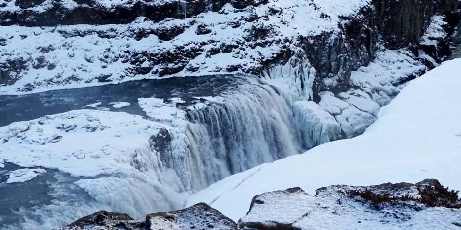 Gulfoss Waterfall close-up