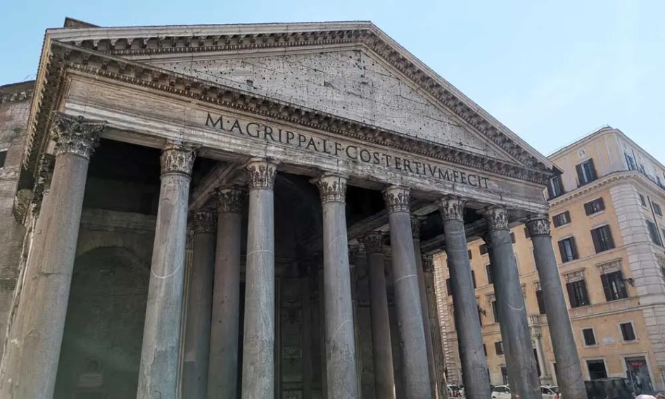 Shows the Panthon monument in Rome - Rome travel guide