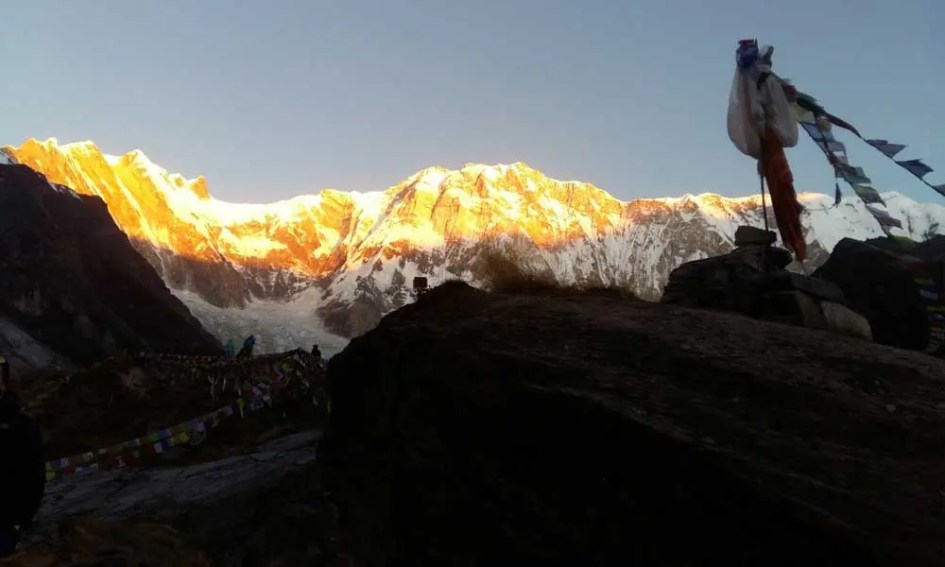 Shows the Annapurna Himilaya mountains from Base Camp - Best Nepal Treks