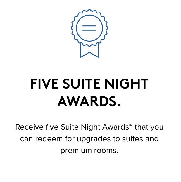Marriott Annual Choice Benefit Five Suite Night Award