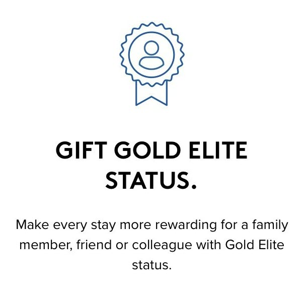 Marriott Annual Choice Benefit Gift Gold Elite