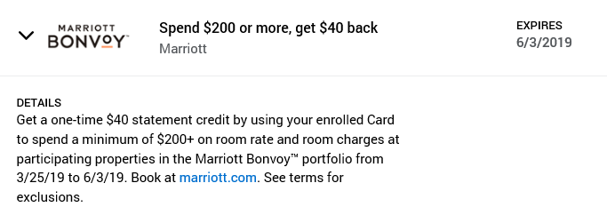 Amex Offers - Marriott Bonvoy 06-03-19