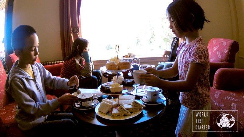 High Tea at Chateau Tongariro, NZ