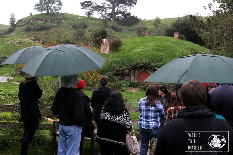 A part of the group at Hobbiton, NZ