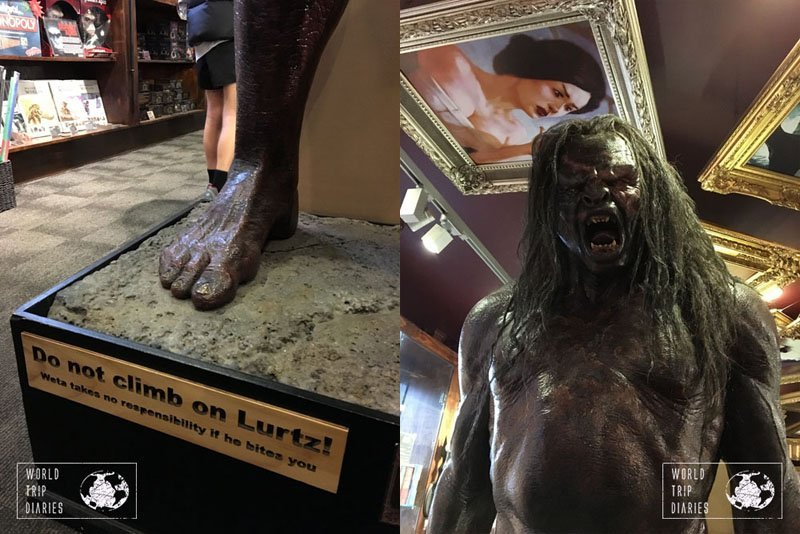 The actual size sculpture of Lurtz, the orc. It's amazing