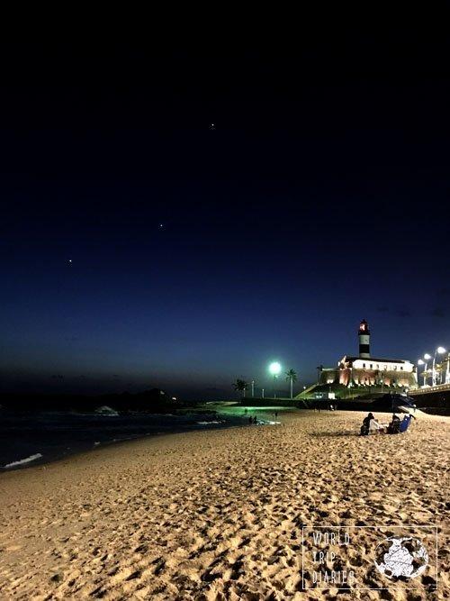 night beach walk